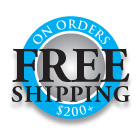 Free Shipping $200 plus